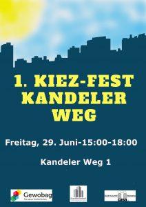 Plakat 1. Kiezfest Kandeler Weg 1